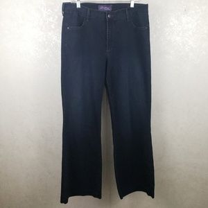 NYDJ 14W High Waisted Wide Leg Blue Jeans D67